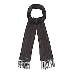 J by Jasper Conran - Grey twill stripe scarf