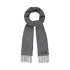 Hammond & Co. by Patrick Grant - Grey pure wool herringbone scarf