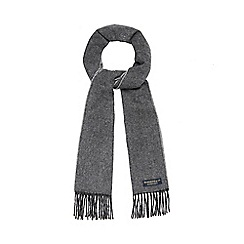 Hammond & Co. by Patrick Grant - Grey pure wool textured pattern scarf