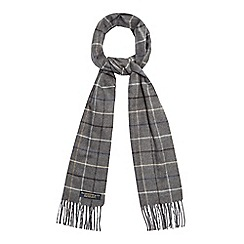 Hammond & Co. by Patrick Grant - Grey checked print scarf