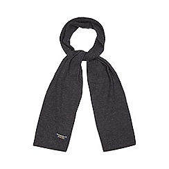 Hammond & Co. by Patrick Grant - Grey moss stitch wool scarf
