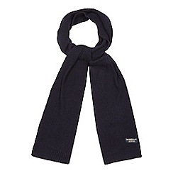 Hammond & Co. by Patrick Grant - Navy moss stitch wool scarf