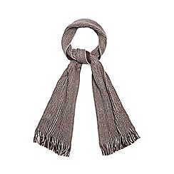 Red Herring - Red fringe reversible scarf