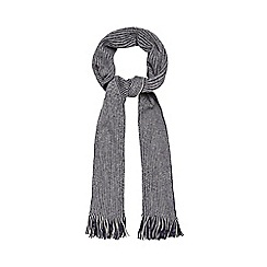 Red Herring - Navy and grey reversible scarf