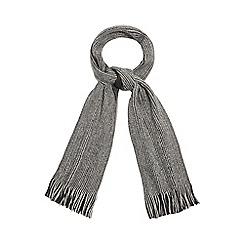 Red Herring - Grey fringe reversible scarf