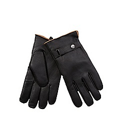 RJR.John Rocha - Black fleece lined leather gloves
