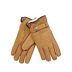 RJR.John Rocha - Tan fleece lined leather gloves