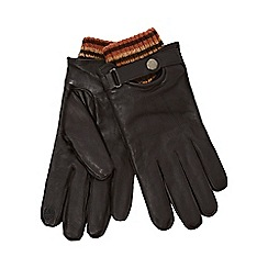 RJR.John Rocha - Brown leather knit cuff gloves