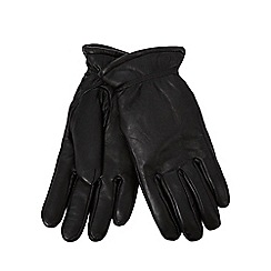 RJR.John Rocha - Black leather borg lined gloves