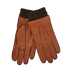 Hammond & Co. by Patrick Grant - Tan leather turn up gloves