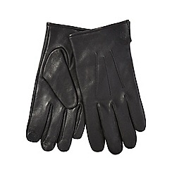 Hammond & Co. by Patrick Grant - Brown touchscreen leather gloves