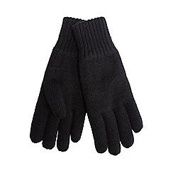Maine New England - Black thermal heat insulating gloves