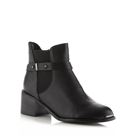Red Herring - Black mid heel ankle boots