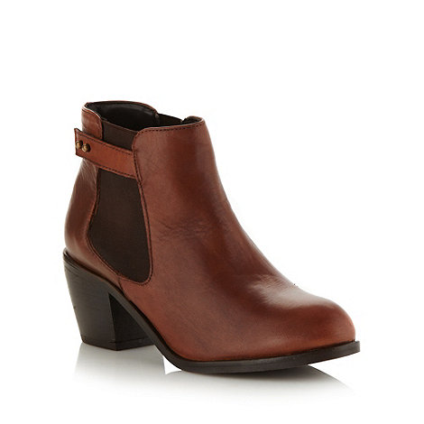 Mantaray - Tan leather mid chelsea boots