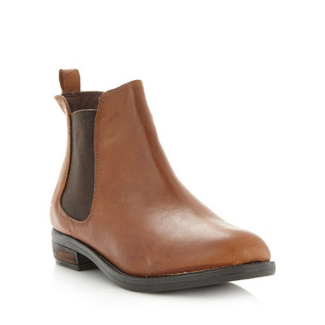 Red Herring - Tan leather chelsea boots