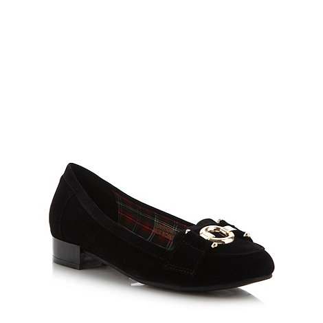 Red Herring - Black gold ring low casual loafer