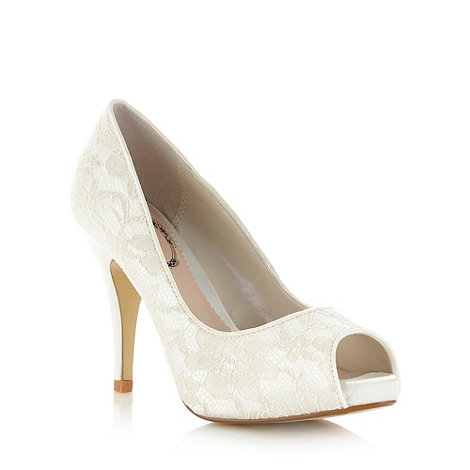 Debut - Ivory lace high court shoes