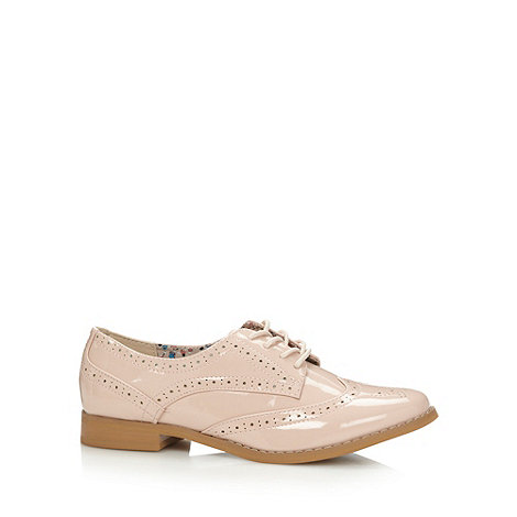 Red Herring - Pale pink patent lace up brogues