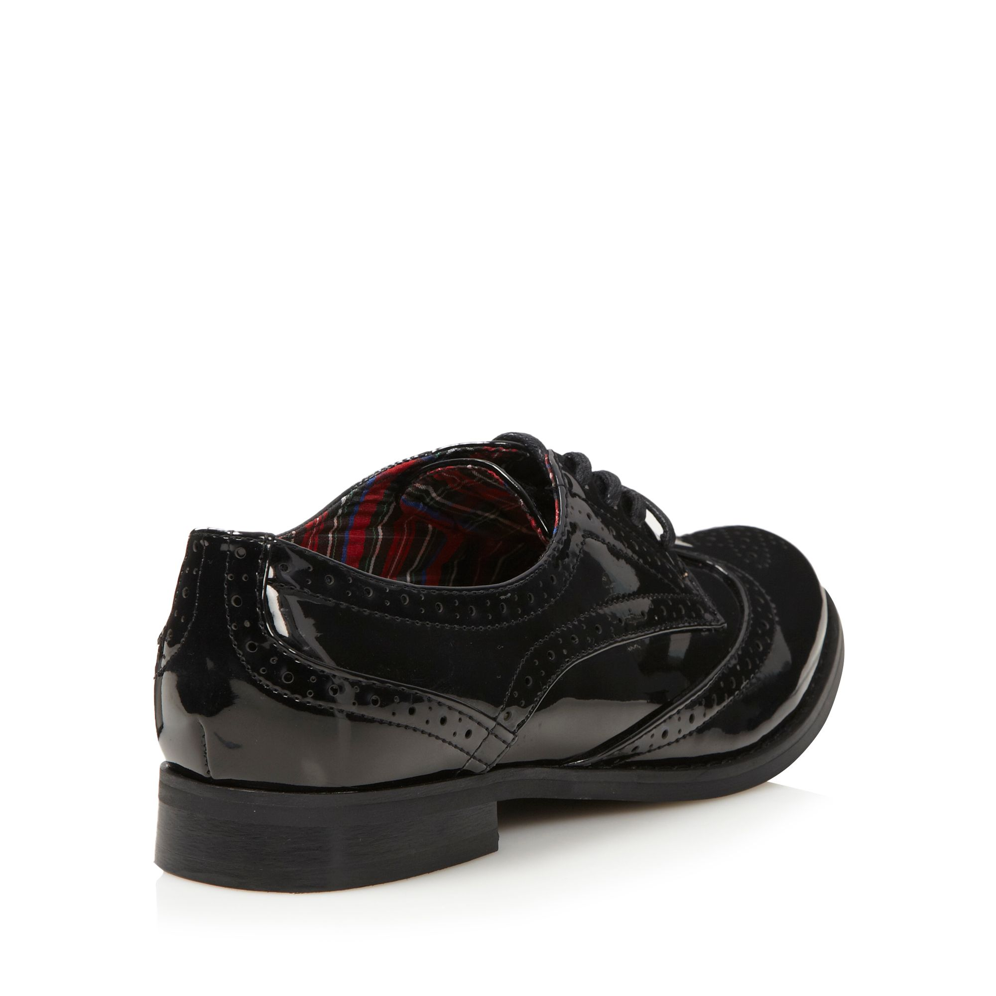 Red Herring Womens Black Patent Lace Up Brogues From ...