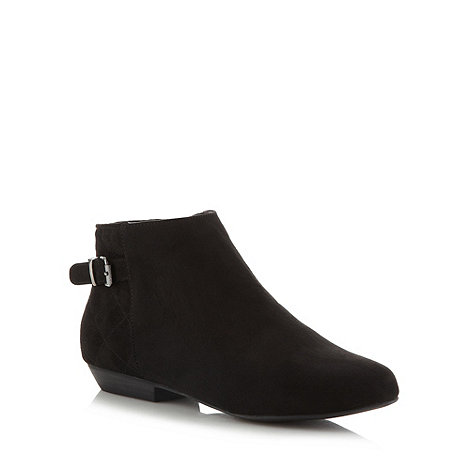 Red Herring - Black buckled strap ankle boots