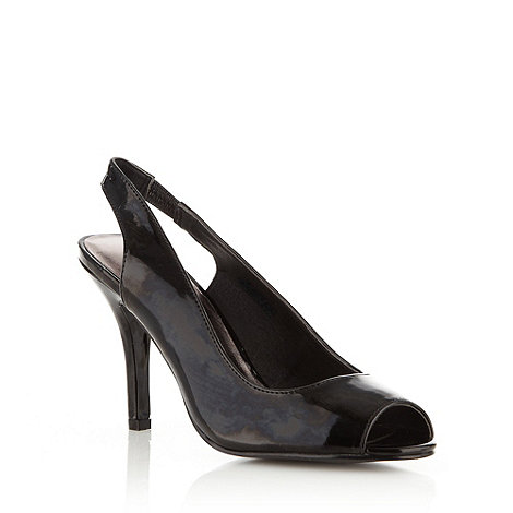 Red Herring - Black patent slingback heeled shoe