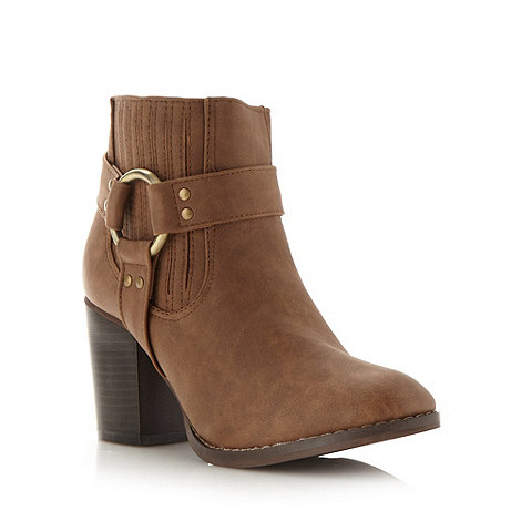 Red Herring - Brown heeled ankle boots