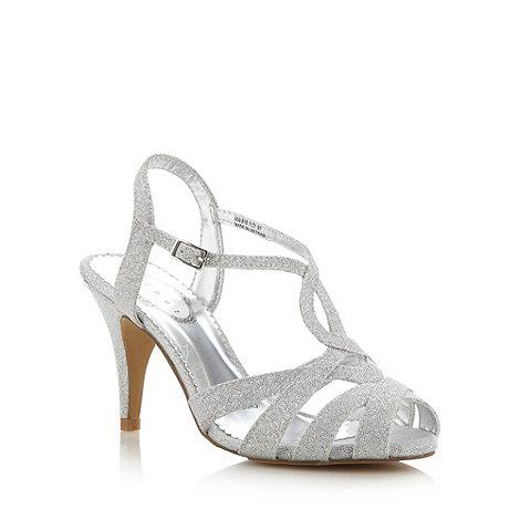 Debut - Silver glitter high heeled sandals