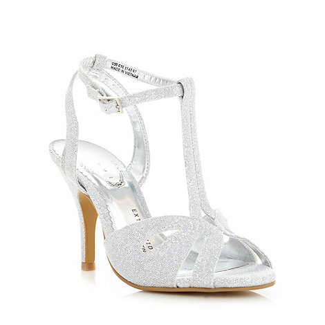 Debut - Silver metallic high wide fit sandals