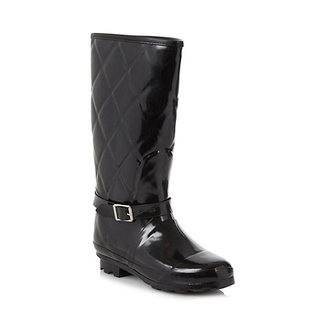 Mantaray - Black quilted wellies