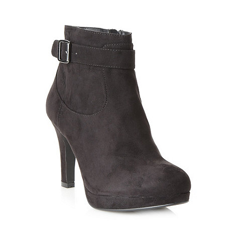 Good for the Sole - Black wide fit buckle high ankle boots