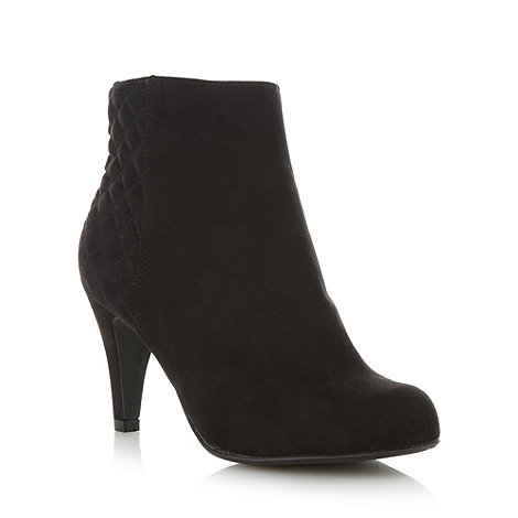 Good for the Sole - Black wide fit quilted panel high ankle boots