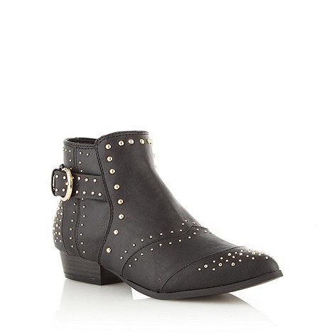 Red Herring - Black studded ankle boots