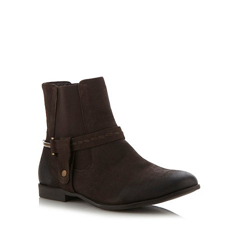 Mantaray - Brown leather chelsea ankle boots