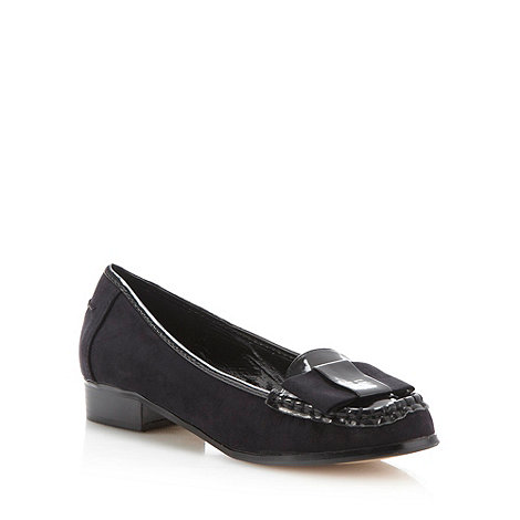 Red Herring - Black patent trim loafers