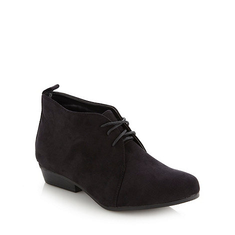 Red Herring - Black lace up low shoe boots
