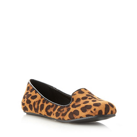 Red Herring - Tan animal slipper pumps