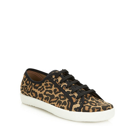 Red Herring - Tan leopard lace up trainers