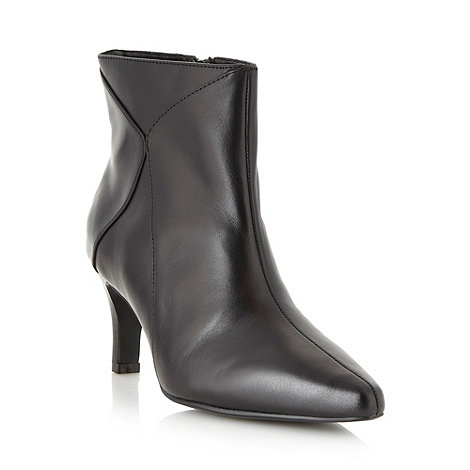 Good for the Sole - Black wide fit leather mid ankle boots