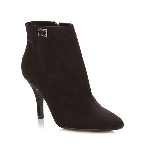 The Collection - Black pointed high ankle boots