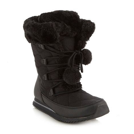 Mantaray - Black quilted snow boots