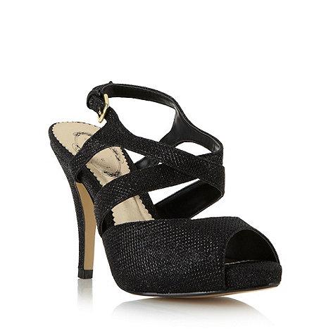 Debut - Black glitter platform sandals