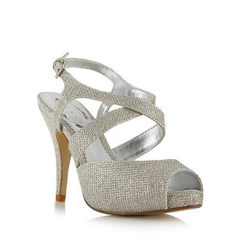 Debut - Silver glitter platform sandals
