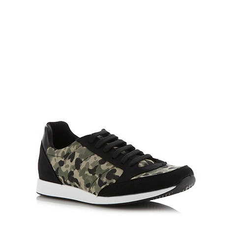 Red Herring - Black camo trainers