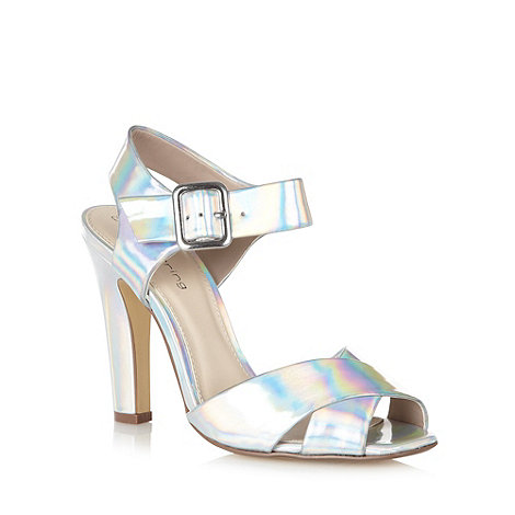 Red Herring - Silver cross over strap high heel sandals