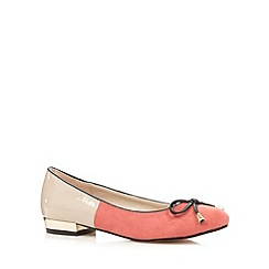 Red Herring - Dark peach colour block pumps