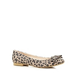 Red Herring - Tan leopard studded bow pumps