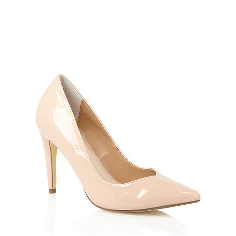 Red Herring - Natural patent pointed toe high court shoes