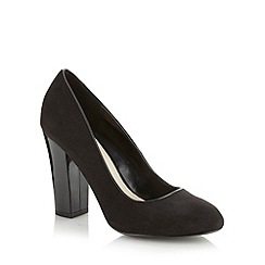 Red Herring - Black high block heel court shoes
