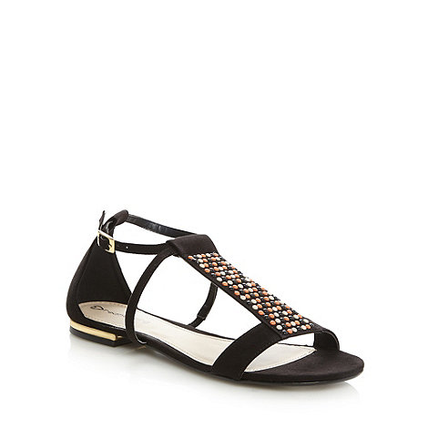 Red Herring - Black 'Shiloh' beaded sandals