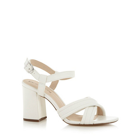 Red Herring - White high block heel sandals